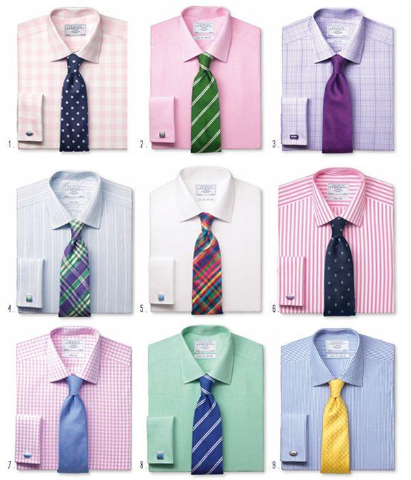 18d810214e64 Summer | MEN STYLES | Shirt, tie combinations, Shirt tie combo, Mens ...
