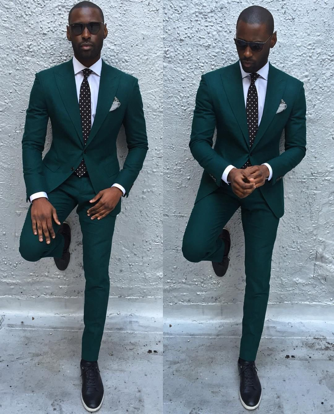 Davidson Frere green suits | Men black with style | Pinterest ...