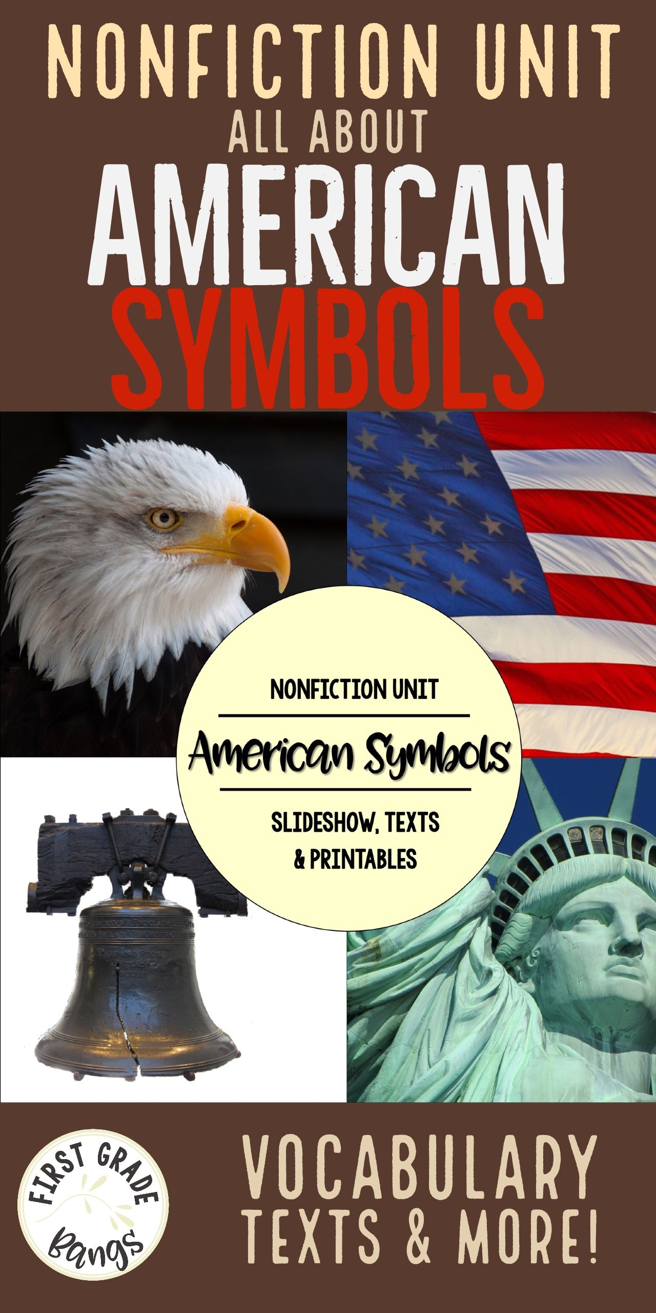 American Symbols Nonfiction Close Reading And Visual Vocabulary Unit