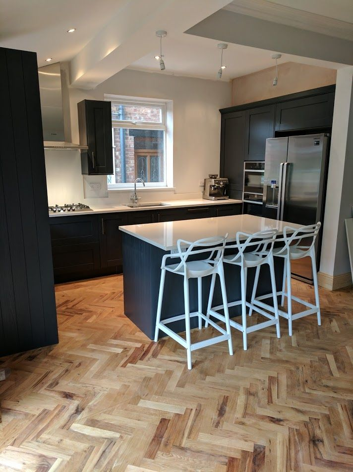 Edwardian Home Renovation Featuring Solid Wood Parquet Flooring | Wood  Parquet, Kitchen Unit And Solid Wood