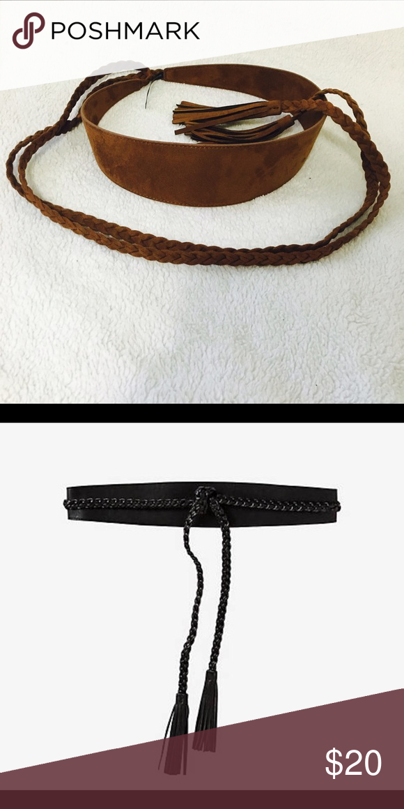 """Express Braided Belt Like new                                                       Tassels at the ends of the braided ties 2 1/2"""" high at widest point Express Accessories Belts"""