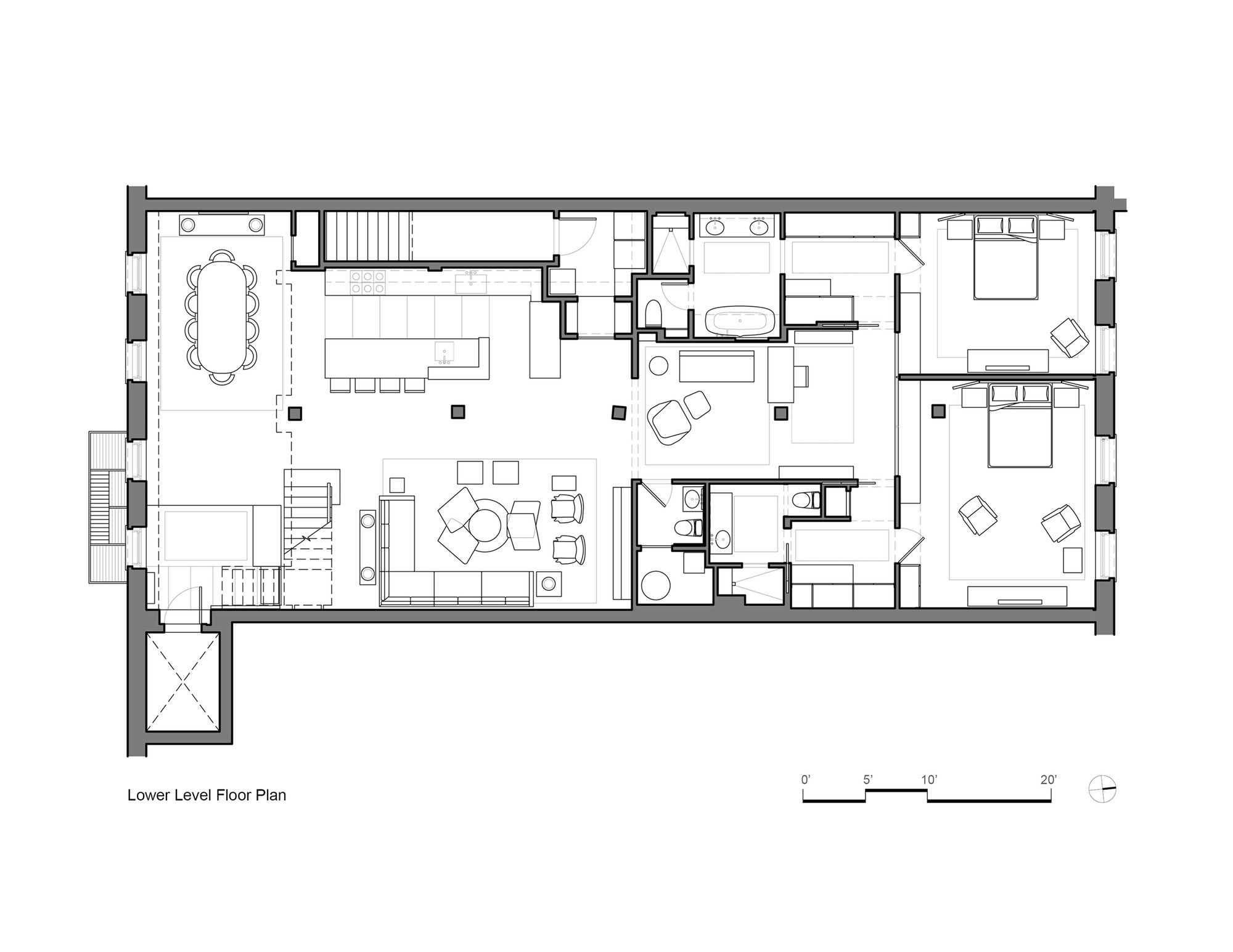Loft House Plan Gallery Of Tribeca Loft Andrew Franz Architect 9