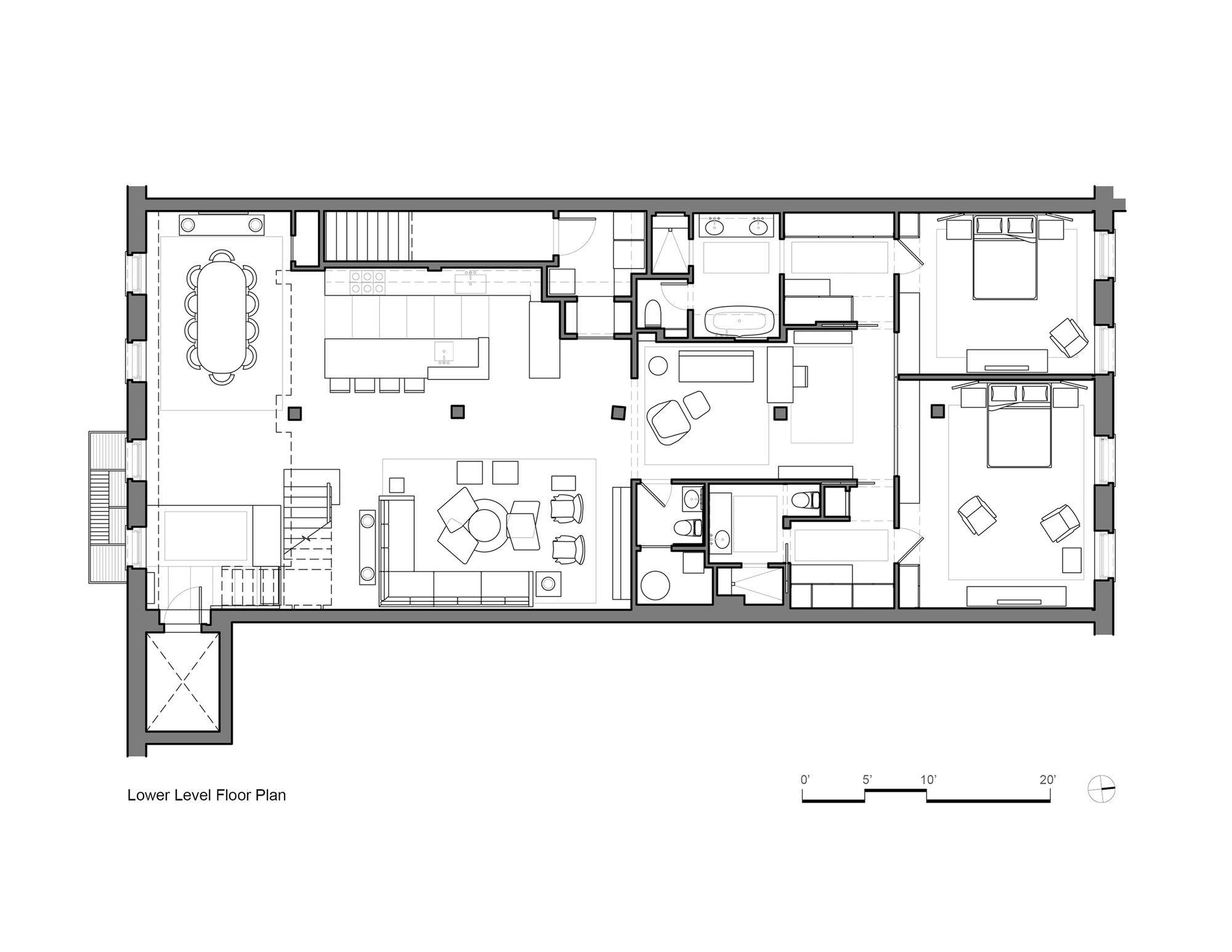 Gallery Of Tribeca Loft Andrew Franz Architect 9 Loft Floor Plans Tribeca Loft Warehouse Loft