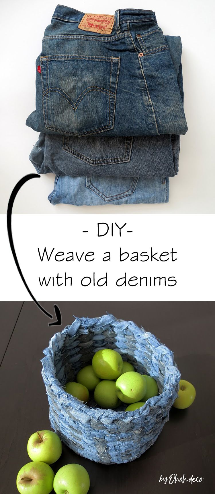 Photo of DIY recycled denim basket – Ohoh deco