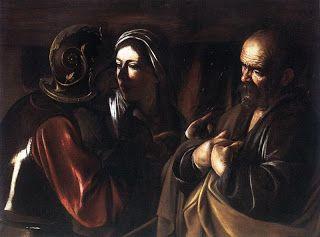 ***Caravaggio, La negación de San Pedro, 1609-10. Nueva York, Metropolitan Museum.