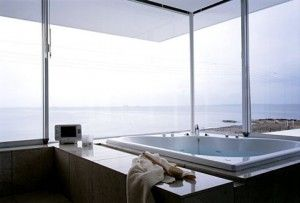 I want a Japanese Soaking Tub for two (& that view!) at my Dream Spa Retreat! #spaweek