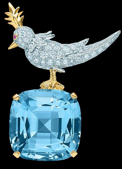 Bird on a Rock Clip French jewelry designer Jean Schlumberger