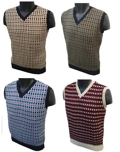 174d0ff7107365 Mens knitted vest sleeveless retro vintage jumper tanktop tank top ...