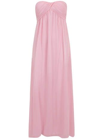 Alice & You Petite Pale Pink Ruched Bandeau Maxi