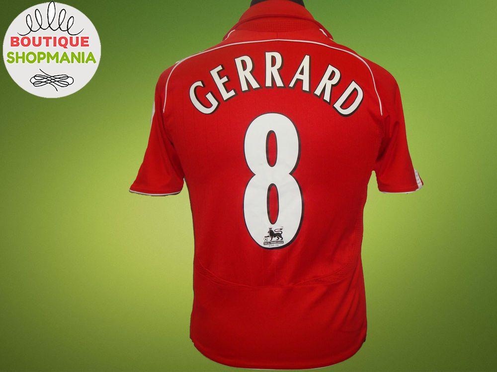 c473c4ecb LIVERPOOL HOME 2006-2008  8  GERRARD (Boys M) Football Shirt Jersey Camisa   Adidas  Liverpool