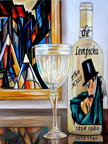 de Lenpicka Wine Label Oil Painting ~ Madison Moore