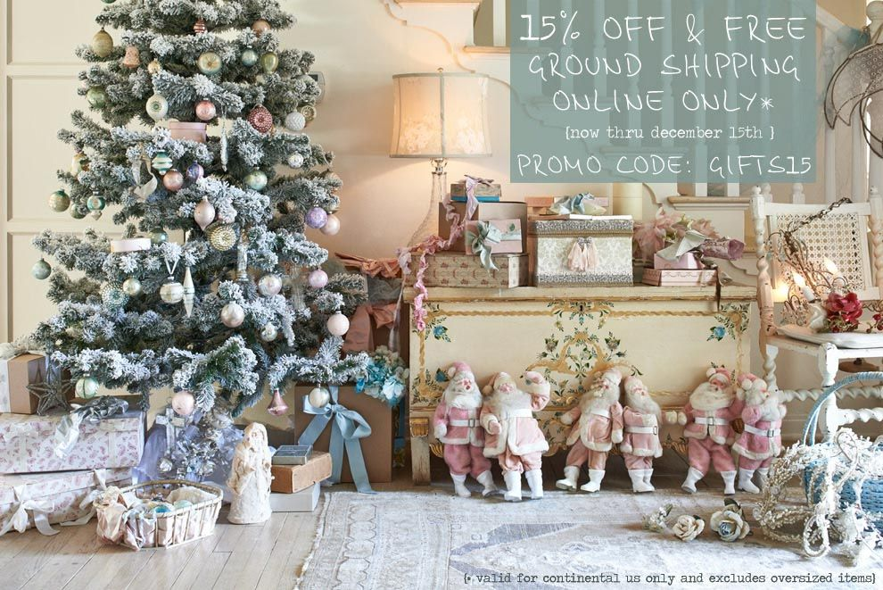 Shabby Chic Natale : The official rachel ashwell shabby chic couture site home sweet