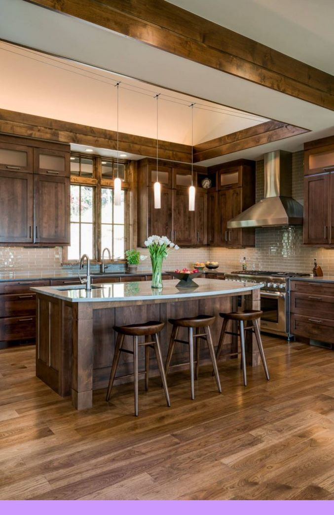 Dark Light Oak Maple Cherry Cabinetry And Unfinished Wood Kitchen Cabinets Canada Check The Pin Fo Rustic Farmhouse Kitchen Tuscan Kitchen Rustic Kitchen
