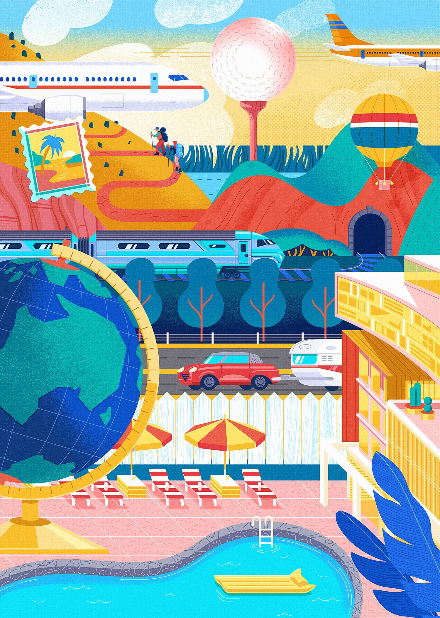 Racv Insurance On Behance Children Illustration Illustration