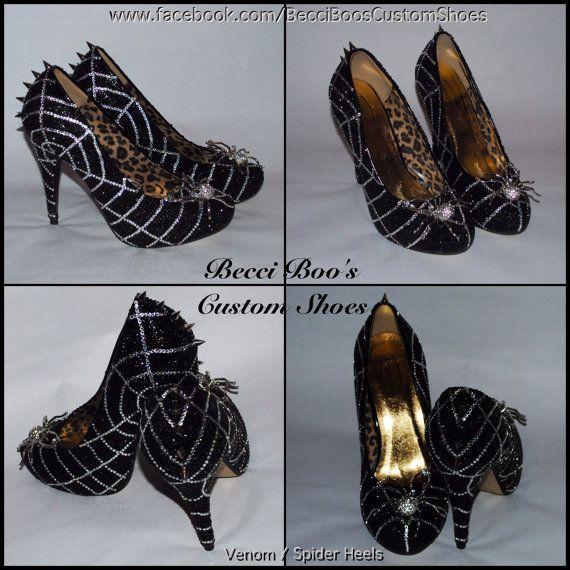 Crystal Venom/Spider Shoes