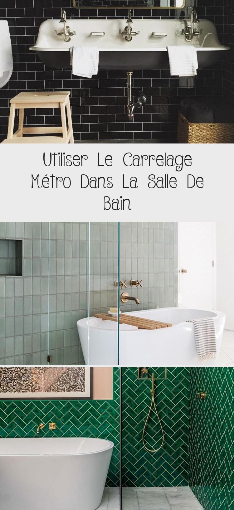 Utiliser Le Carrelage Metro Dans La Salle De Bain In 2020 Vanity