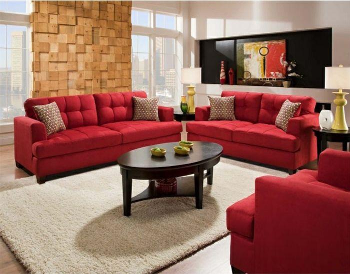 Rotes Sofa ins Innendesign einbeziehen \u2013 Inspirierende rote Sofas