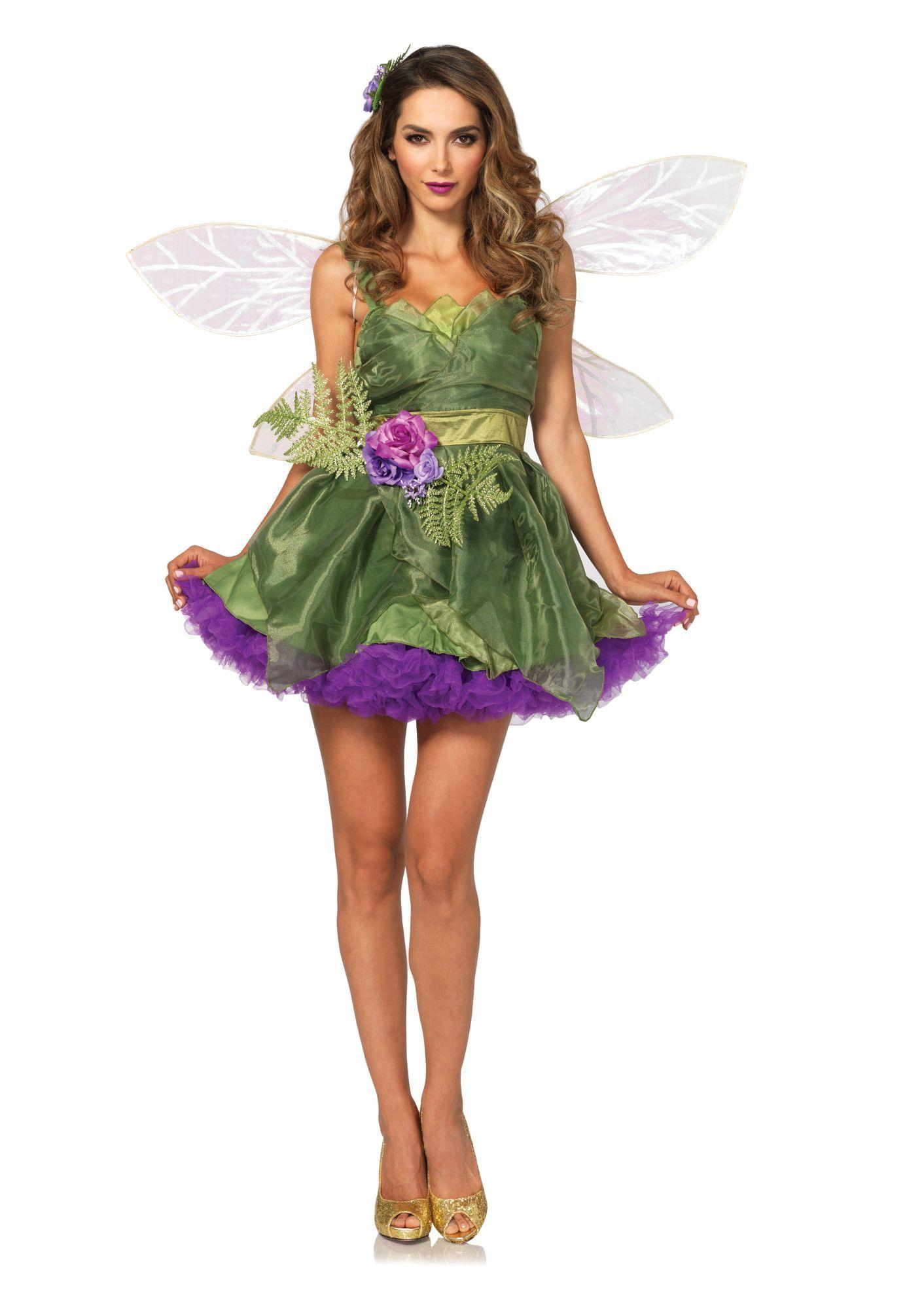 PcWoodland FairyOrganza DressWaist Sash With FlowerHair Clip