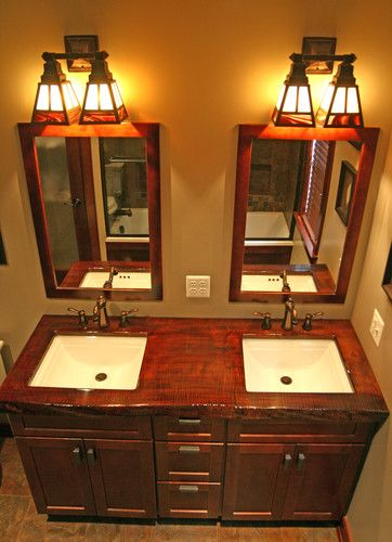 Craftsman bathroom design pictures remodel decor and - Mission style bathroom accessories ...