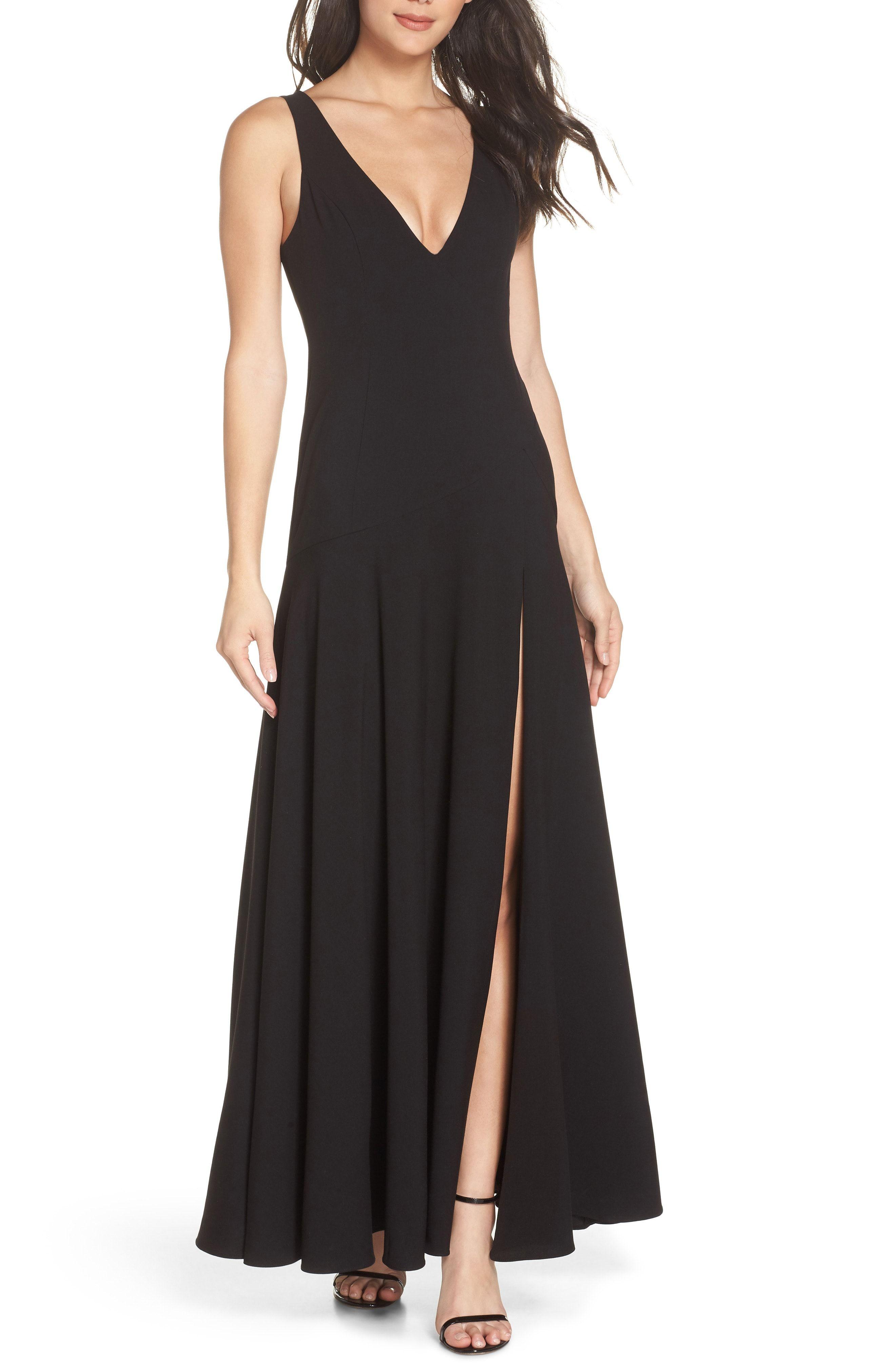 New fame partners the hazel front slit gown online