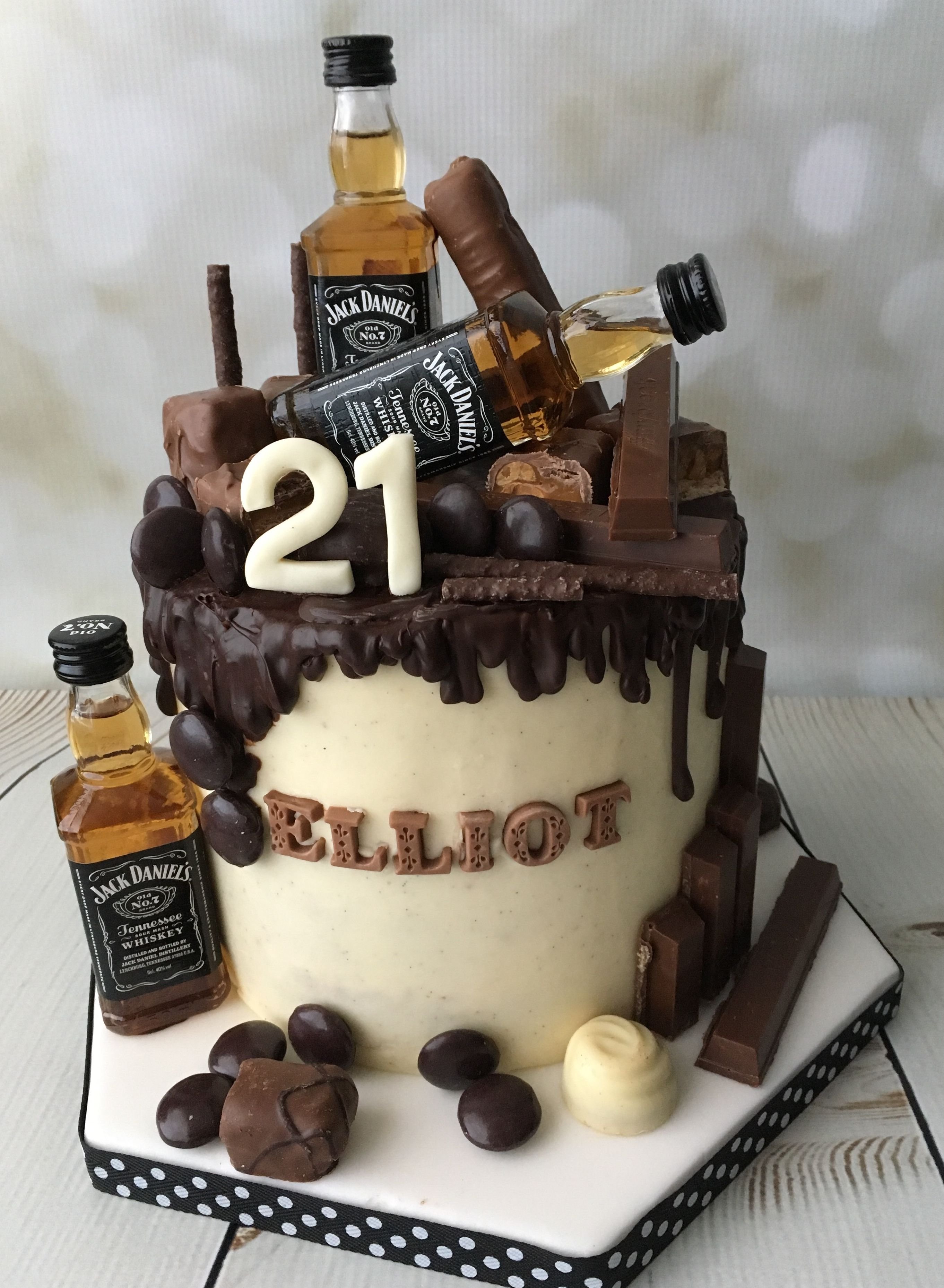 Jack Daniels Drip Cake Jackdanielscake Jd21stcake With Images
