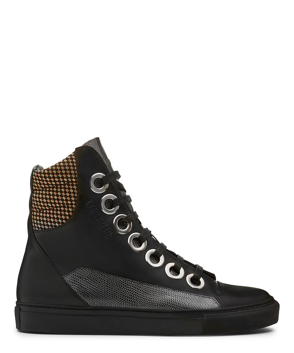 Raf Simons Black Nubuck High-Top Sneakers rWxhkeA