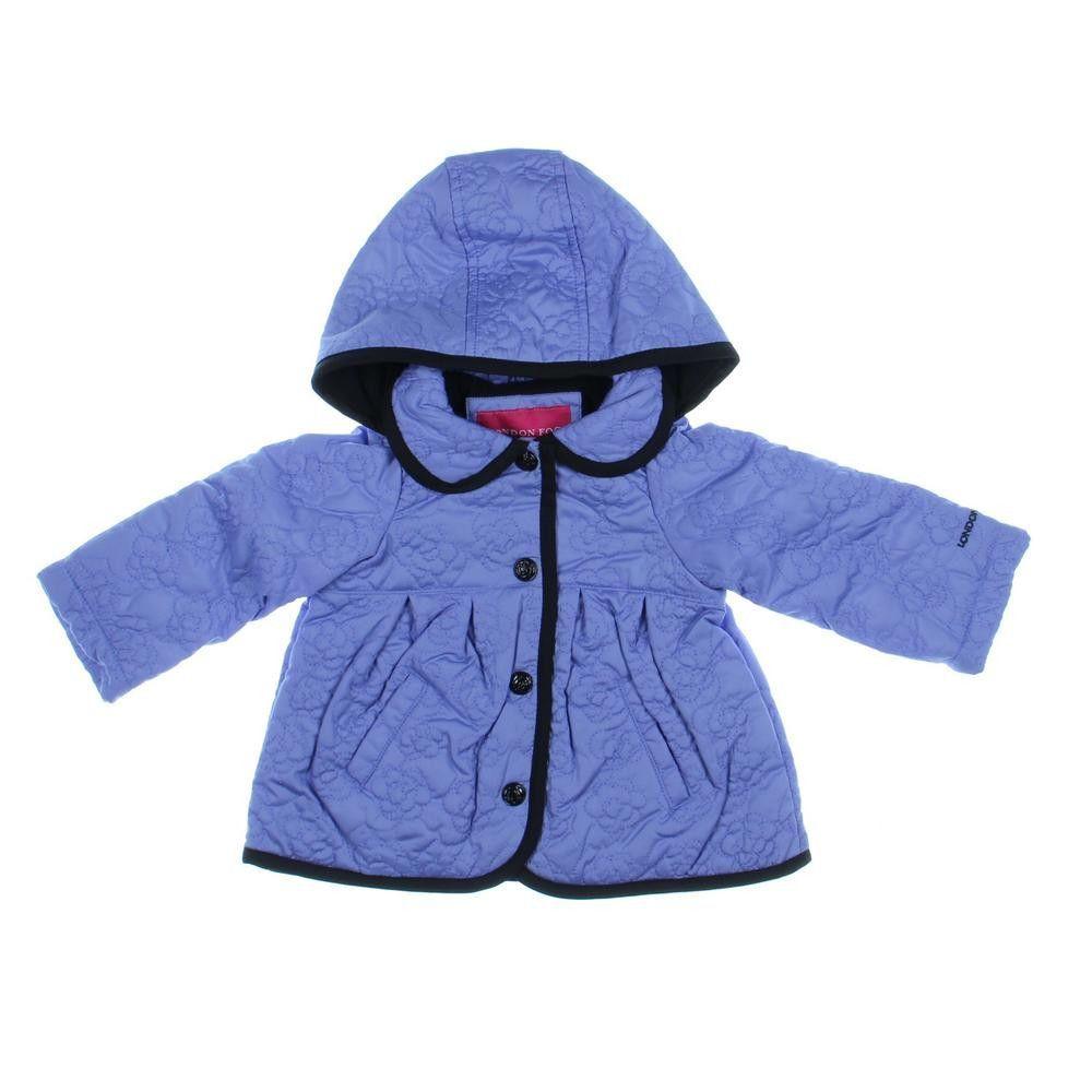 London Fog Pleated Baby Girls Jacket