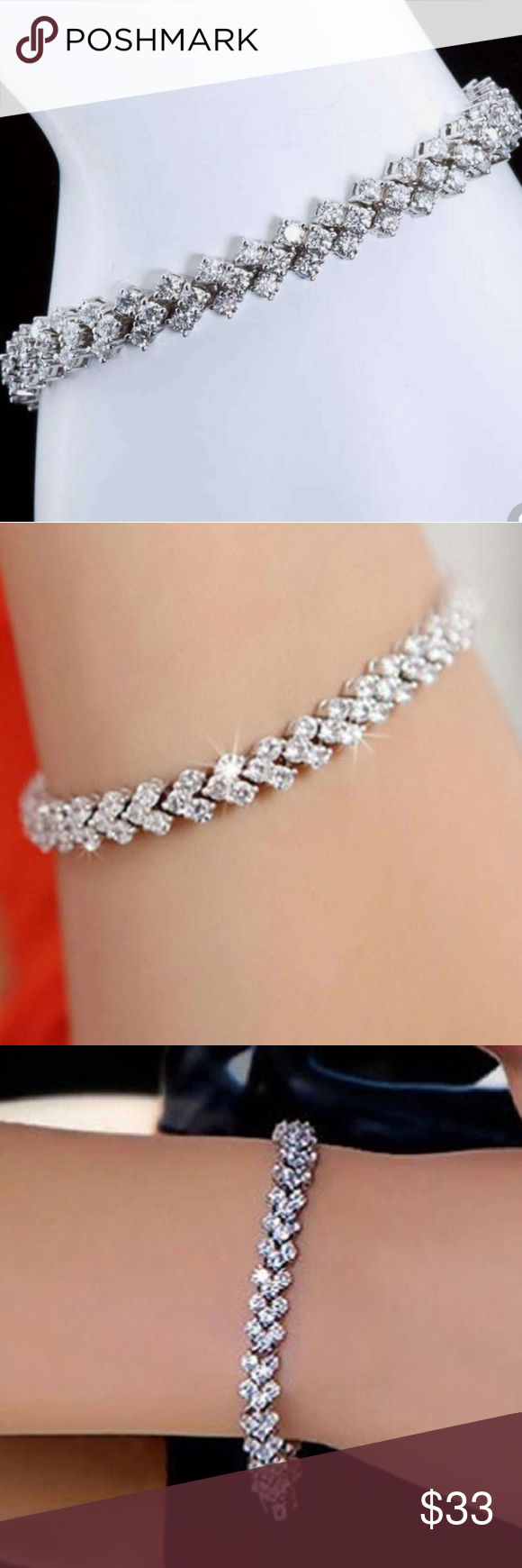 1 4 Ct T W Diamond Tennis Bracelet Adorn Her Wrist In The Lavish Display Of This Gleaming 1 4 Ct T W D Tennis Bracelet Diamond Beautiful Bracelet Bracelets