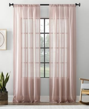 Archaeo Textured Cotton Blend Sheer Curtain 54 W X 95 L