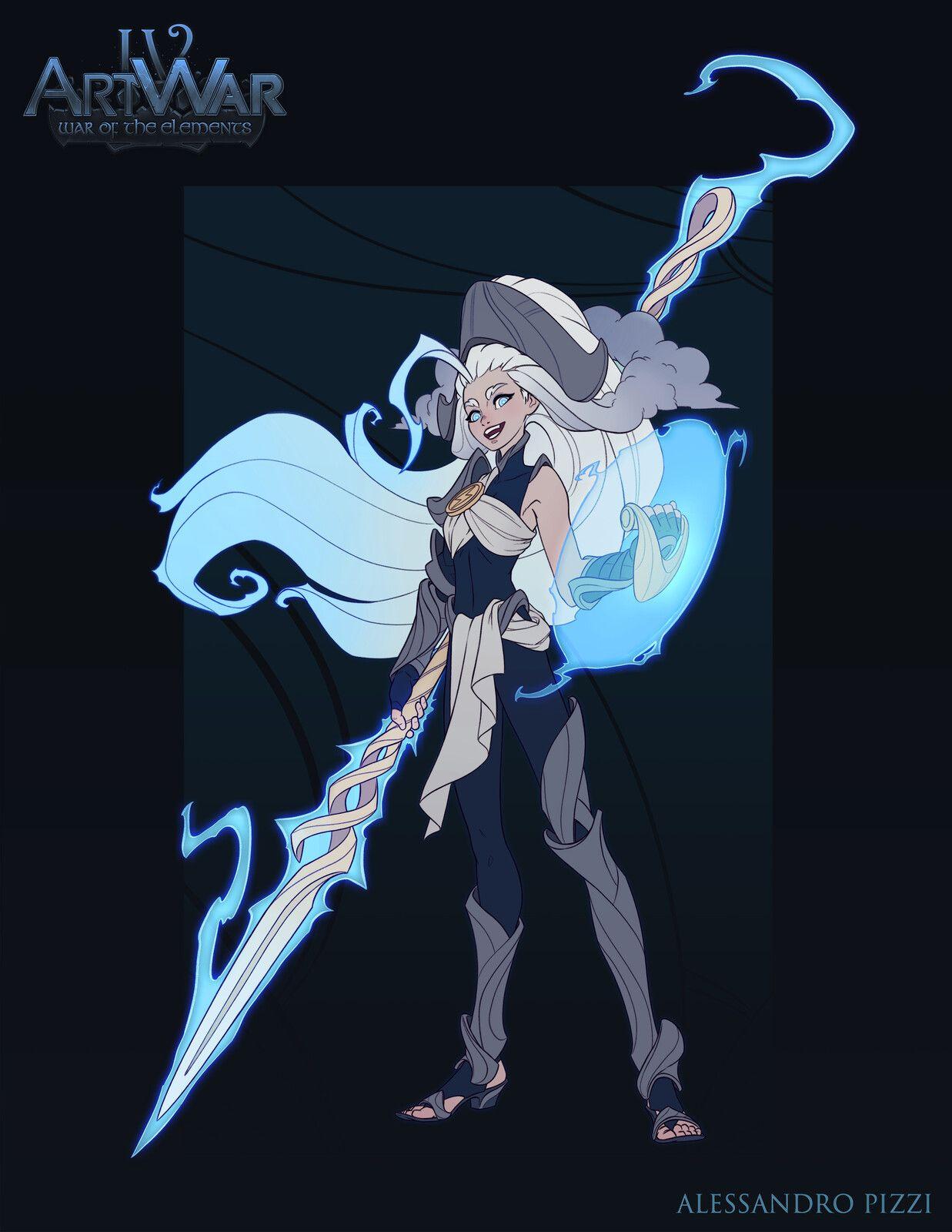 Lightning Girl Alessandro Pizzi On Artstation At Https Www Artstation Com Artwork K4vw3z Character Design Fantasy Character Design Character Art