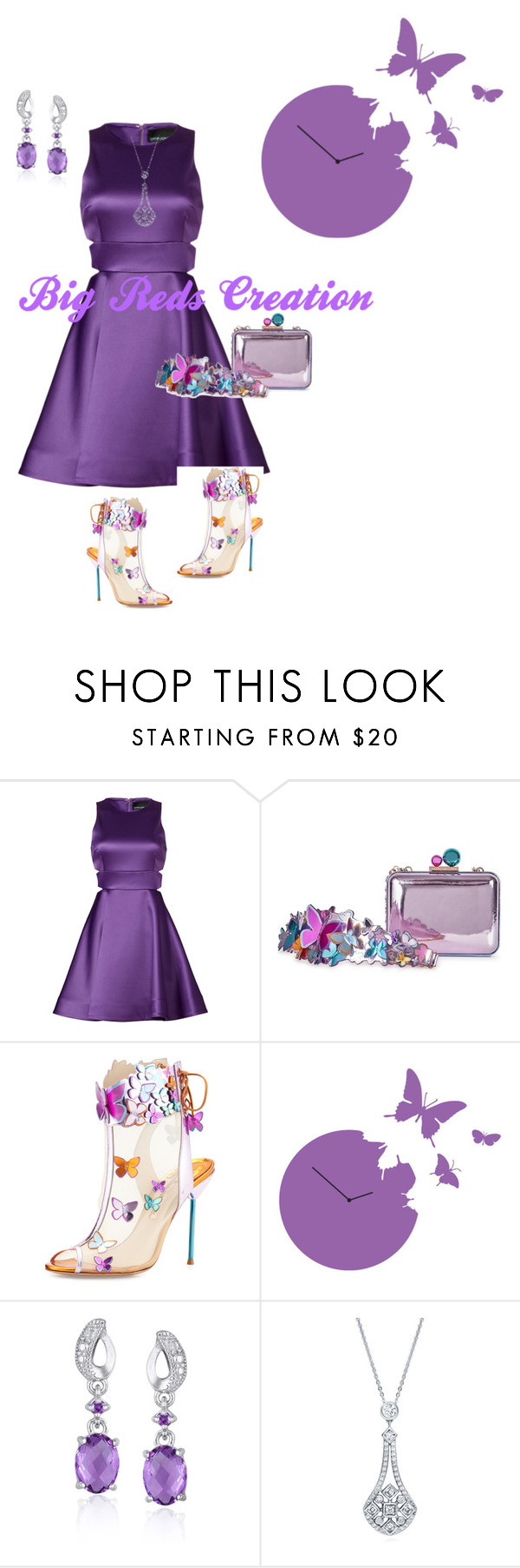 """Purple Butterfly"" by bigreds ❤ liked on Polyvore featuring Cynthia Rowley, Sophia Webster, Diamantini & Domeniconi, Glitzy Rocks and BERRICLE"
