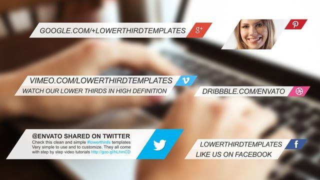 social media lower thirds templates social icons pinterest