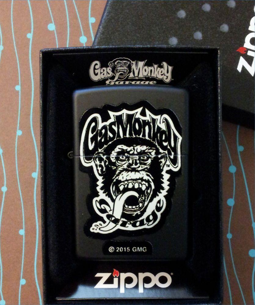 ZIPPO Gas Monkey Garage 29055 Black Matte NEW Windproof