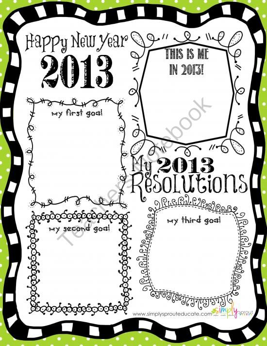 2013+New+Years+Resolutions+activity+for+the+elementary+classroom+from+Simply+Sprout+on+TeachersNotebook.com+-++(1+page)++-+2013+New+Years+Resolution+activity+FREEBIE