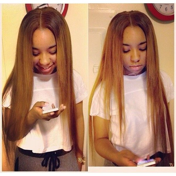 Blonde Middle Part Sew In Hair For Dayssss Liked On Polyvore Featuring