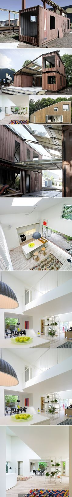 Upcycled Shipping Container House - Find out how to create one here ...
