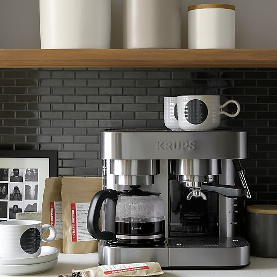 Krups® Combination Espresso-Coffee Maker | Crate and Barrel