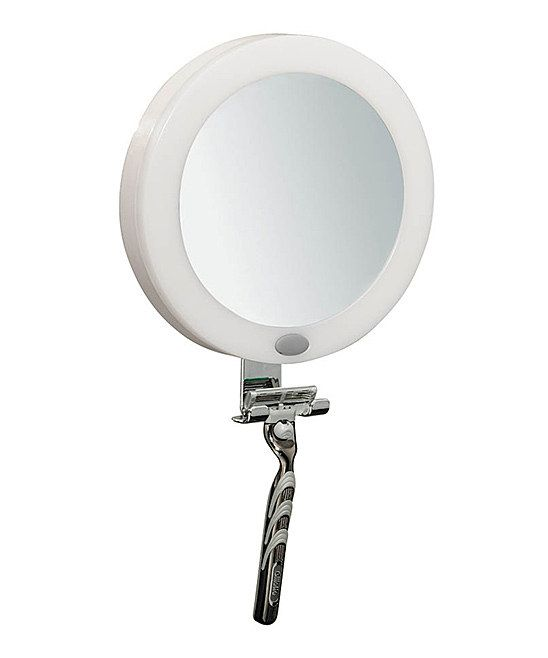Perfect For Shaving Or Makeup Application This Fog Free Mirror Lights Up And Sticks To Any Flat Surface With A Suction Cup Hands