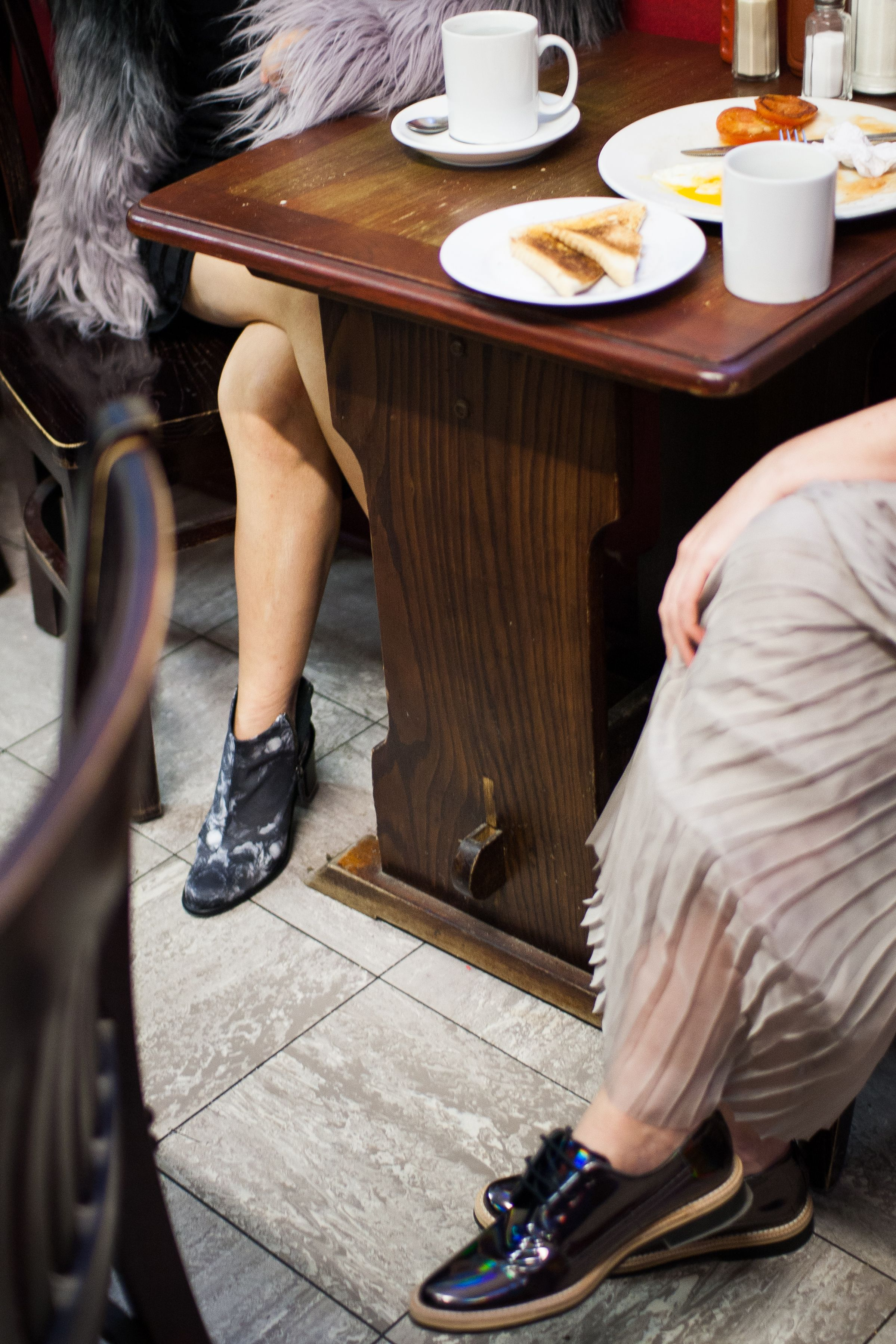 #Miista shoes for breakfast! Photography by Sergio Jensen, on location at Franco's Cafe, Rivington Street #Shoreditch. #AIDA