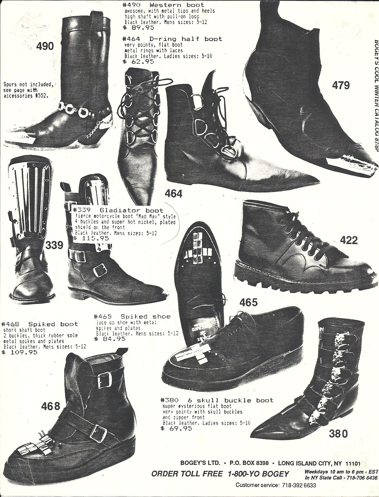 new product b5008 355ca goth doc martens 80s Fashion gothic fashion 80s goth pointy boots  3 more  from the Bogeys catalog from the 80 s  3