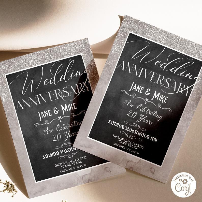 Wedding Anniversary Invitation, Silver Wedding Anniversary