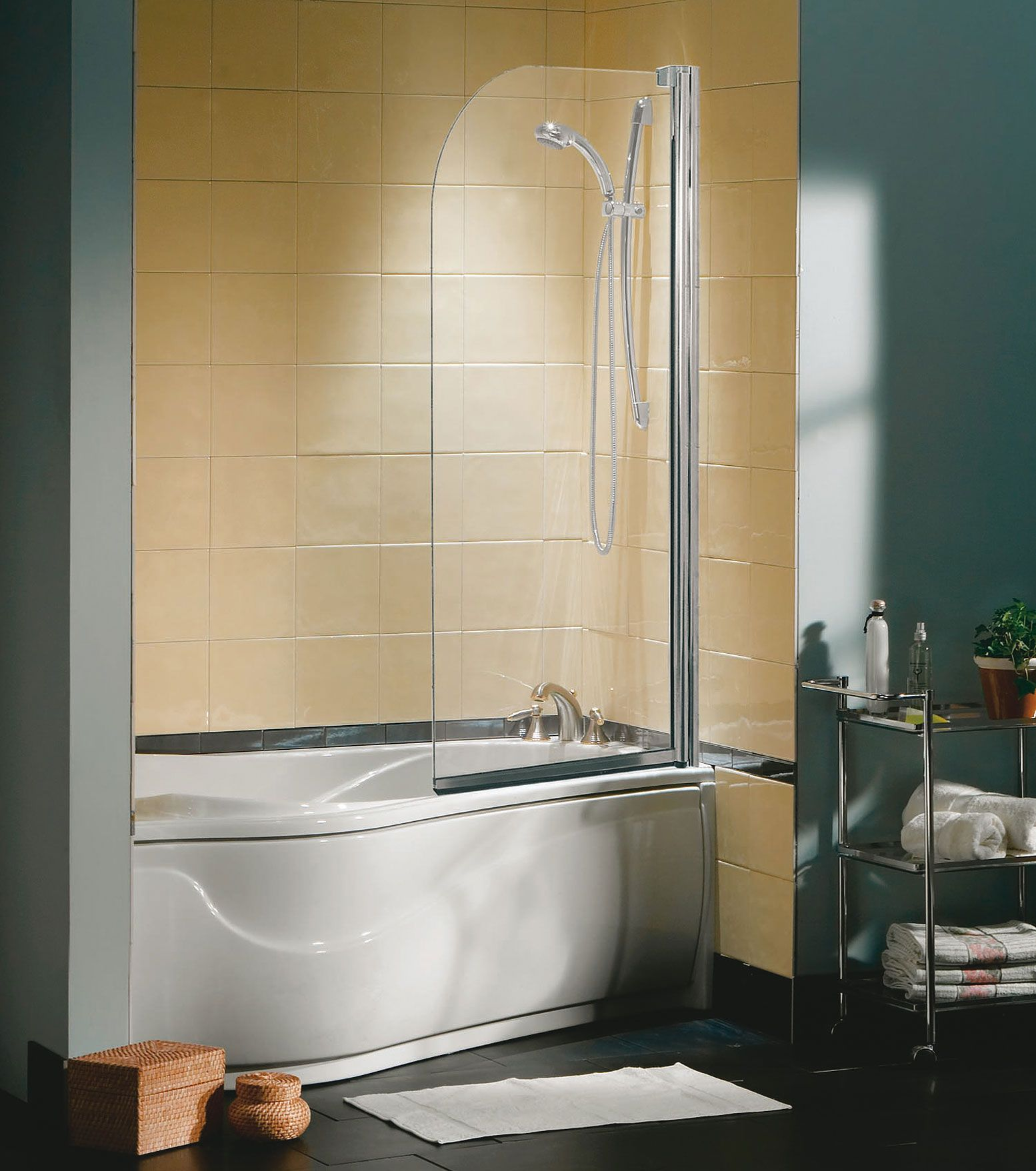 Tub Shield 1-panel Tub showers door - MAAX - could have white frame ...