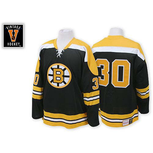 Boston Bruins Gerry Cheevers 30 Black Replica Jersey Sale  496b2c80d