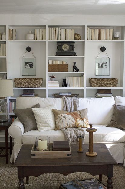 Inspiration Gallery Link Party 10 29 Bookshelves In Living Room Farm House Living Room New Living Room