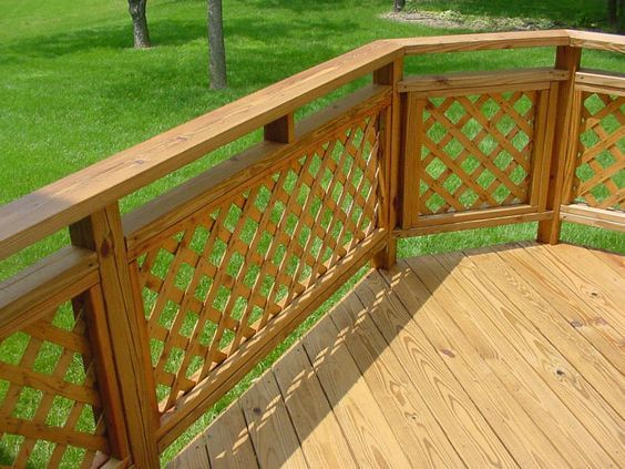 5 Types Of Decorative Deck Railings Salter Spiral Stair Deck Railing Design Railing Design Lattice Deck