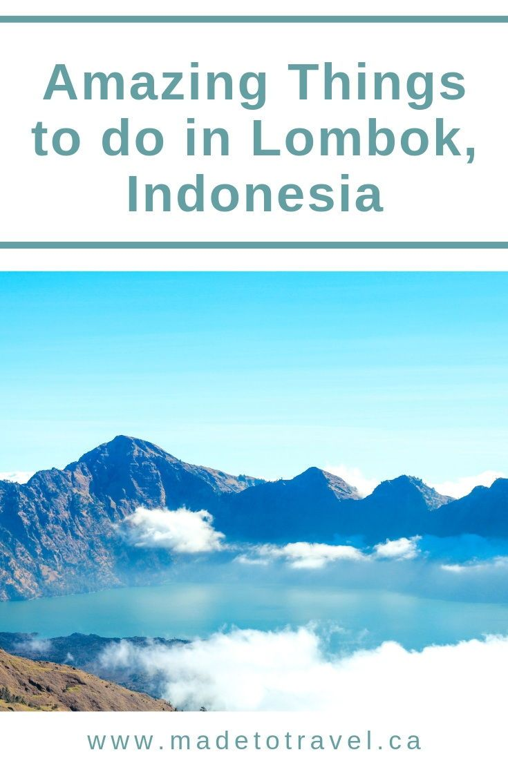 The best things to do in Lombok, Indonesia. Click through for a list of adventures to have on this beautiful island in Indonesia including waterfalls, beaches, hikes and more! #indonesia #lombok #travelasia #seasia