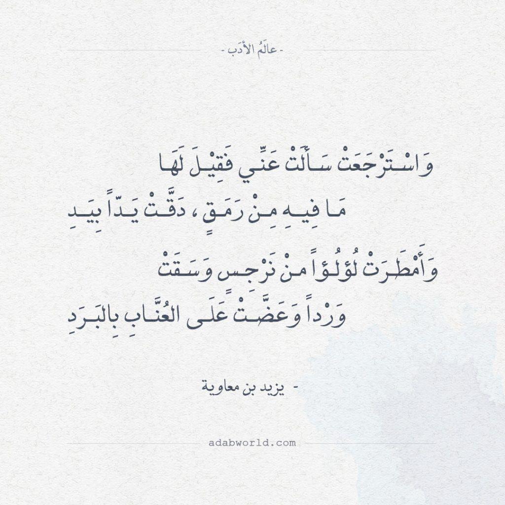 اجمل ابيات الغزل قيلت في الشعر ليزيد بن معاوية عالم الأدب Book Quotes Beautiful Words Arabic Love Quotes