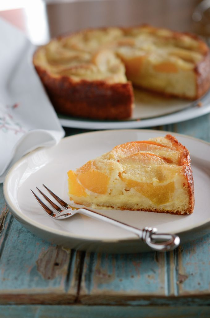 Peach Kuchen is a delectable German peach cake made with either ...