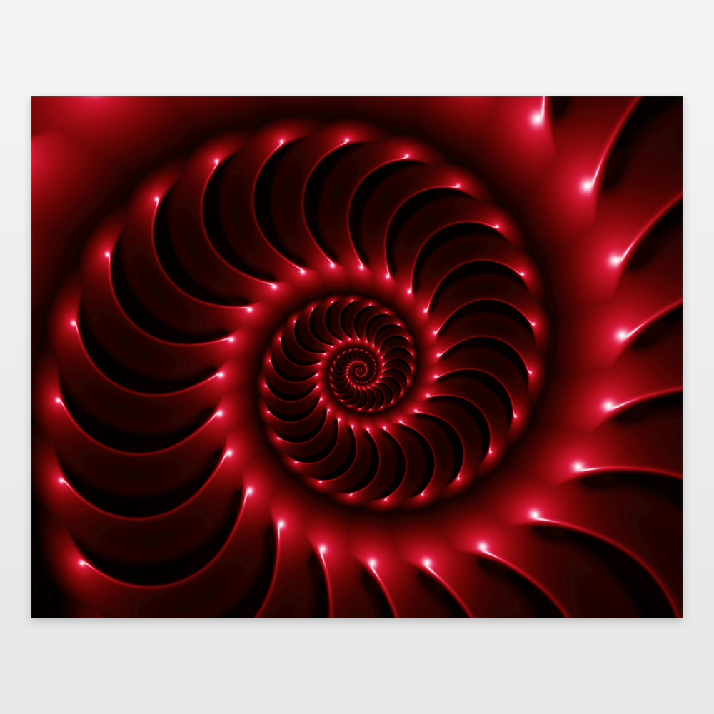 Fun Indie Art from BoomBoomPrints.com! https://www.boomboomprints.com/Product/kittybitty/Glossy_Deep_Red_Spiral_Fractal/Art_Prints/8x10/
