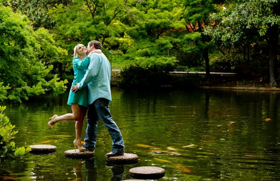 Lauren & Mark Fort Worth Botanic Gardens Engagement